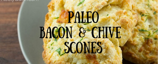 paleo bacon chive scones