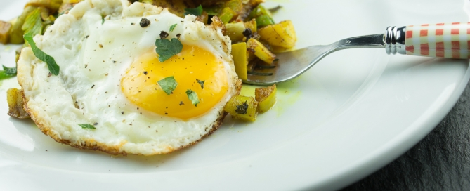 Curried Apples and Leeks with Sunny Side Up Eggs