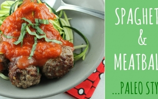 paleo style spaghetti and meatballs