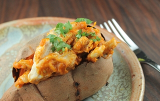 Curried Chicken Stuffed Sweet Potatoes