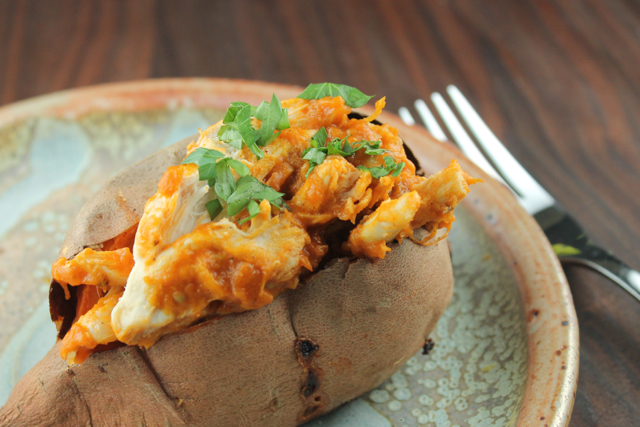 Curried Chicken Stuffed Sweet Potatoes - NeelyQuinn.com