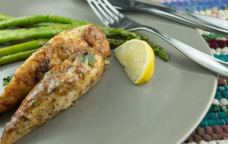 Honey Mustard Turkey Tenderloins with Roasted Asparagus