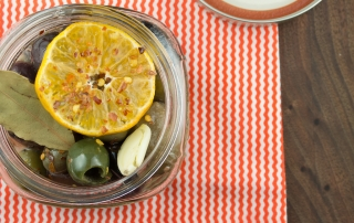 Spicy Citrus Marinated Olives