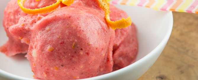 Strawberry Orange Sorbet