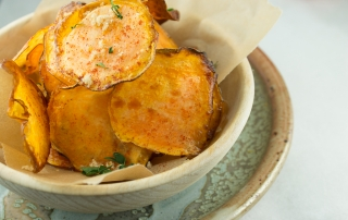 Sweet and Spicy Sweet Potato Chips