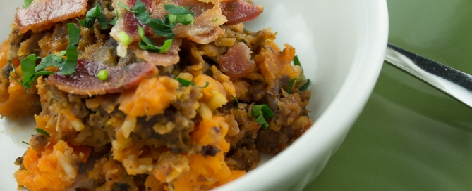 Winter Squash and Bacon Casserole