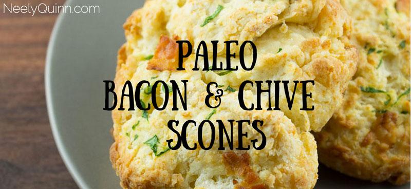 paleo bacon chive scones