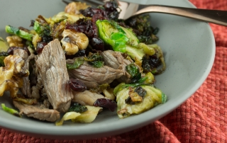 Steak and Caramelized Brussels Sprout Skillet